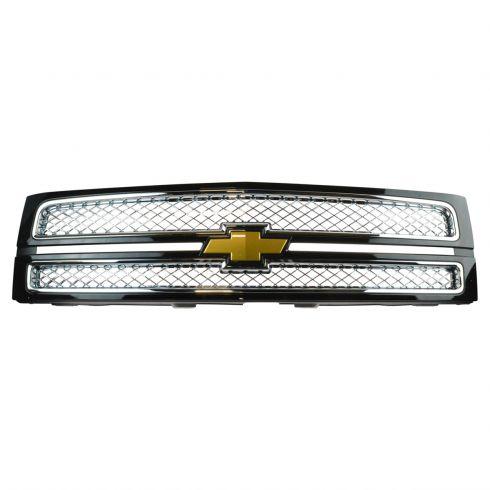 10-13 Chevy Silverado 1500 Black (Paint Code 41U) Surround w/Chrome Mesh Grille w/Bowtie Emblem (GM)