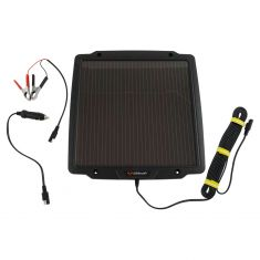 Schumacher: Solar Powered (4.2 Watt) Battery Trickle Charger w/Battery Clamps & 12V Adapter Kit