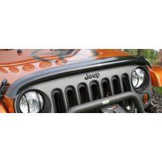 07-14 Jeep Wrangler Hood Smoked Wraparound Bug Deflector