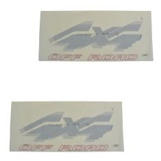 94-96 Ford F150; 94-97 F250, F350 Rear Bed Mounted Red & Black ~4x4 OFF ROAD~ Decal PAIR (Ford)
