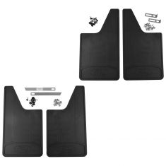 11-16 F150, F250SD-F550SD w/SRW ~Ford~ Logoed Frt & Rear HD Splash Guard Mud Flap (Set of 4) (Ford)