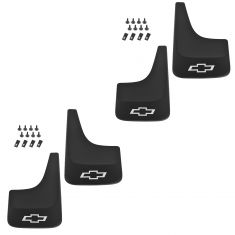 01-13 Silverado 1500, 2500, 3500; 14 2500, 3500 (exc DRW); 01-14 Sub, Aval Mud Flap (Set of 4) (GM)