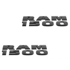 12-15 Dodge Ram 1500 Front Door Mounted Black ~RAM 1500~ Adhesive Nameplate Emblem PAIR (Mopar)