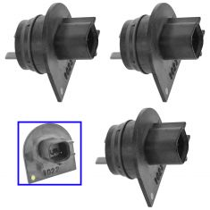 90-92 Mnco; 88-92 Eagle Premr 05-14 Chrysler; 05-14 Ddge Mltft Tllght Wing Nut Set of 3(MP)
