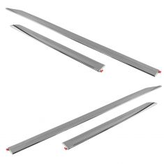 13-16 Nissan Altima Front & Rear Lower Door Mounted Chrome Body Side Molding Set of 4(Nissan)