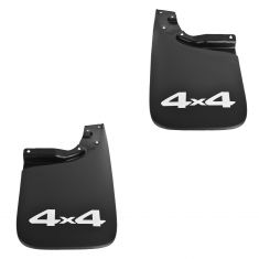 05-15 Toyota Tacoma w/4WD Molded Black Plastic ~4x4~ Logoed Rear Mud Flap Splash Guard Pair (Toyota)