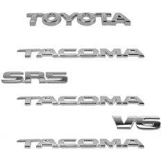 05-15 Toyota Tacoma SR5 V6 (Frnt Door, Tailgate Mtd) Chrome Nameplate Emblem Kit (Set of 6) (Toyota)