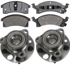 Wheel Hub & Bearing Pair with SEMI-METALLIC Brake Pads