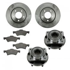 01-07 Town & Country, Caravan, Grand Caravan Front Hubs, Ceramic Brake Pads, Brake Rotors Kit