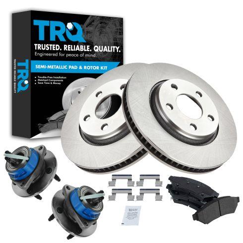 GM Multifit Front Semi Metallic Brake Pads, Rotor & Hub Kit