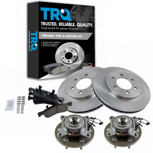 REAR Brake Rotors /& Ceramic Pads 03 06 Lincoln Navigator Ford Expedition 2