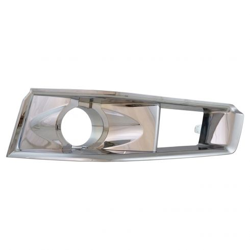 08-13 Cadillac CTS Sdn; 10-14 CTS Wgn; 11-14 CTS Cpe w/HID Front Bumpr Mtd Chrome Fog Light Bezel LF