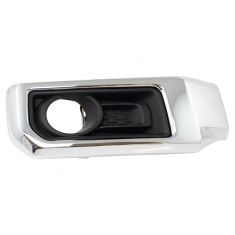 14-18 Toyota 4Runner Limited Primed Fog Light Bezel w/Chrome Trim RF
