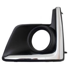 16-17 Subaru XV Crosstrek Black & Chrome Fog/Driving Light Bezel LH