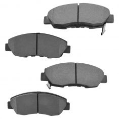 90-02 Accord Acura CL Brake Pads front for cars with 4 lug wheels & Rear Drum