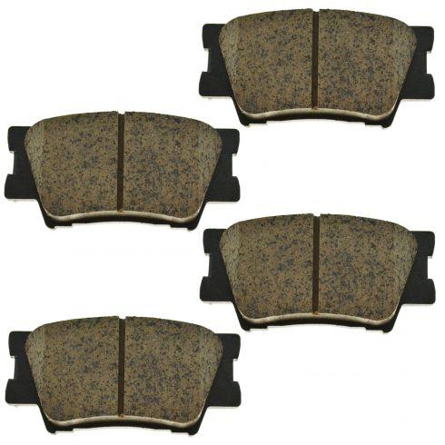 07-14 Lexus; 09-10 Vibe; 06-14 Toyota Multifit Rear Ceramic Disc Brake Pad Set (TOYOTA)