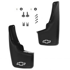 99-07 Silverado Classic; 02-06 Avalanche; 00-06 Subrbn w/Wheel Flares Front Molded Mud Flap Set (GM)