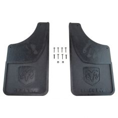 09-16 Ram 1500; 10-16 2500, 3500 w/Fdr Flares ~Ram~ Logoed Rear HD Rubr Splash Grd Mud Flap PR (MP)