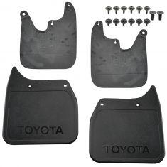 Black TOYOTA OEM PT76989110 Mud Flap-Mudguards