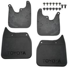 01-02 Tacoma 2WD (exc Prerunner) ~TOYOTA~ Logoed Mld Blk Plstc Mud Flap Splash Grd (Set of 4) (TY)