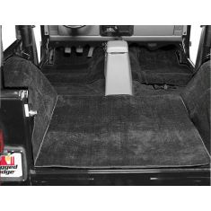 Deluxe Carpet Kit, Black, 76-95 Jeep CJ and Wrangler Models
