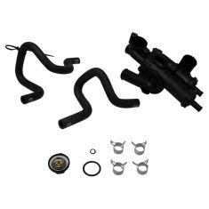 08-12 Dodge Caliber, 09-17 Jeep Compass, Patriot w/1.8L, 2.0L, 2.4L Thermostat Hsg w/Hose Assy (DM)