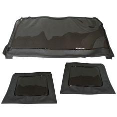 11-15  Jeep Wrangler 4DR Black Soft Top Tinted Rear Window Kit (3 Piece Set)