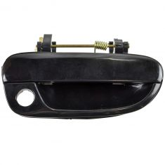 2000-06 Hyundai Accent Door Handle Outside Smooth Black w/Keyhole RF