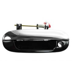02-09 GM Mid Size SUV Front Smooth Black w/Chrome Lever Outside Door Handle LF