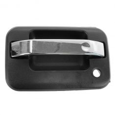 09-13 Ford F150 Front Chrome & Textured Black Outside Door Handle (w/o Keyless Entry Pad) LF