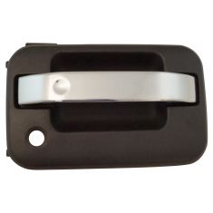 09-13 Ford F150 Front Chrome & Textured Black Outside Door Handle (w/Keyhole) RF