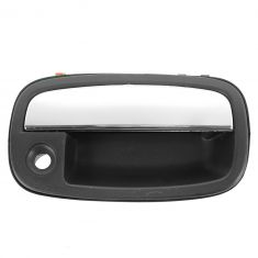 95-02 Kia Sportage Front Textured Black w/Chrome Pull Outside Door Handle (w/Keyhole) RF