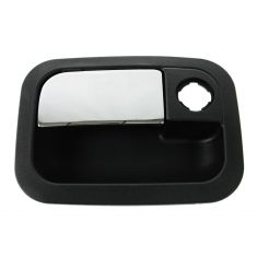 01-10 Kenworth T; 01-11 Peterbilt 3 Srs (w/Daylight Door) Front Outer Chrome & Black Door Handle LF