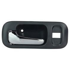 97-01 Honda CR-V (w/Lock Provision) Inside Dark Gray w/Chrome Pull Handle Door Handle LF