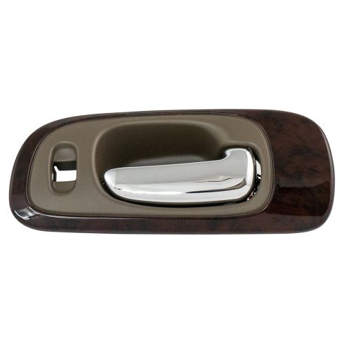 98-04 Chrysler Concorde Chrome & Beige (w/ wood) Interior Door Handle RF