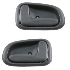 93-97 Toyota Corolla Dark Gray Inside Dr Handle LH & RH Set