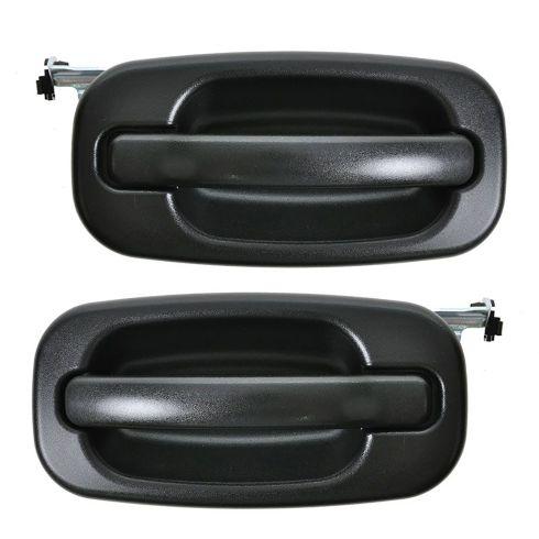 99-07 Silverado Textured Black Outside Rear Door Handle Pair