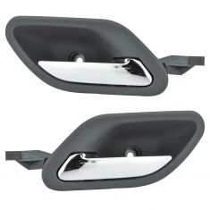 97-01 (3/01) BMW 5 Series; 97-03 BMW 7 Series Gray w/Chrome Pull Inside Door Handle PAIR