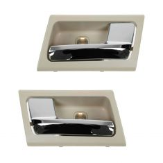 06-11 Ford Crown Victoria, Mercury Grand Marquis Inner Camel & Chrome Door Handle PAIR