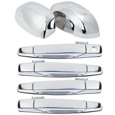 07-11 GM Full Size PU & SUV Chrome Outside Door Handles Set of 4 with Mirror Caps