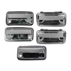95-99 Suburban, Tahoe, Yukon CHROME Front & Rear Outside Door Handle (Set of 5)