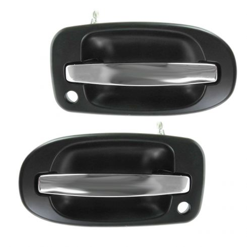Door Handle Front Outer Black Smooth Passenger Side RH for Buick Chevy Pontiac