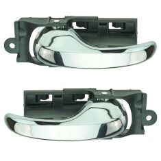 97-00 Ford F150; 97-98 F250LD Front Inner All Chrome Door Handle PAIR