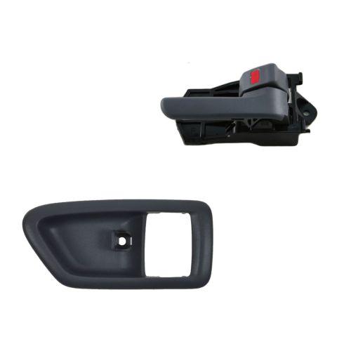 97-01 Toyota Camry Gray Inside Door Handle & Bezel Kit RF = RR