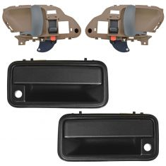 95-01 Chevy GMC Pickup, SUV Textured Black Outside & Tan Inside Door Handle Set