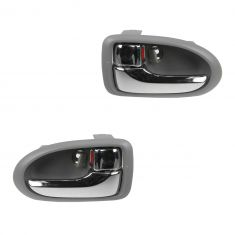 00-06 Mazda MPV Chrome & Gray Front Inside Door Handle PAIR