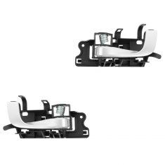 03-07 Cadillac CTS-V Black w/Silver Lever Inside Door Handle PAIR