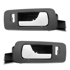 05-11 Cadillac STS; 06-11 STS-V Front Black w/Chrome Lever Inside Door Handle PAIR