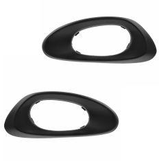 02-09 Chevy Trailblazer; 02-06 EXT (w/o Convenience Pkg) Frt Txt Black Inside Door Handle Bezel PAIR