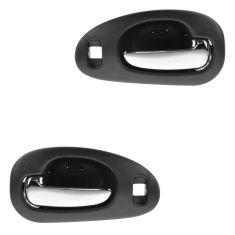 98-04 300M, Concord, Intrepid; 99-01 LHS Front Inner Textured Black w/Chrome Pull Door Handle PAIR